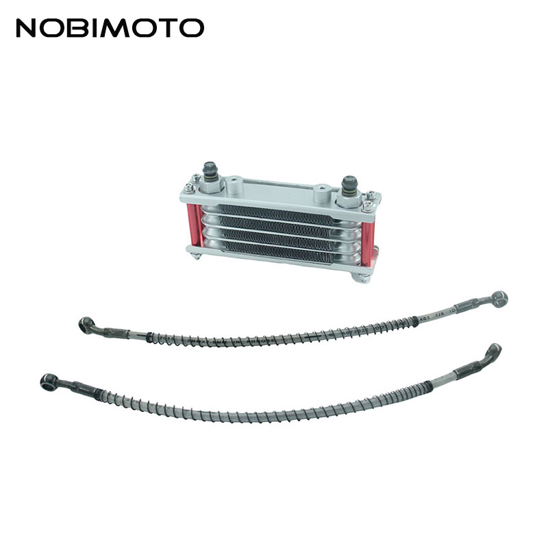 Off Road Motorcycle Oil Cooler Scooter Radiator With 200mm Short Tubing Fit for 50cc 160cc Modify