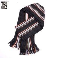 TIGER FORCE 2016 Men Fashion Scarf Winter Autumn Casual Long Striped Sacrf Warm Soft Winter Scarf