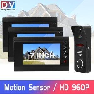 Image 1 - السلكية فيديو إنترفون HD 960P الفيديو باب الهاتف للمنزل 130 درجة الجرس كاميرا كشف الحركة سجل المنزل نظام اتصال داخلي كيت