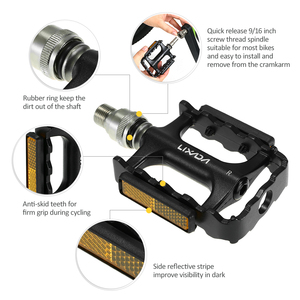 Image 5 - Lixada MTB Road Bike Bicycle Cycling Pedals Bike Quick Release Pedals Bicycle Cycling Platform Pedal with Pedal Extender Adapter