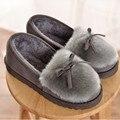 Зима Женщины Теплые Тапочки Крытый Главная Обувь Теплый Взрослых Этаж Обувь Плюшевые Хлопок Тапочки Мокасины Беременных Женщин Обувь