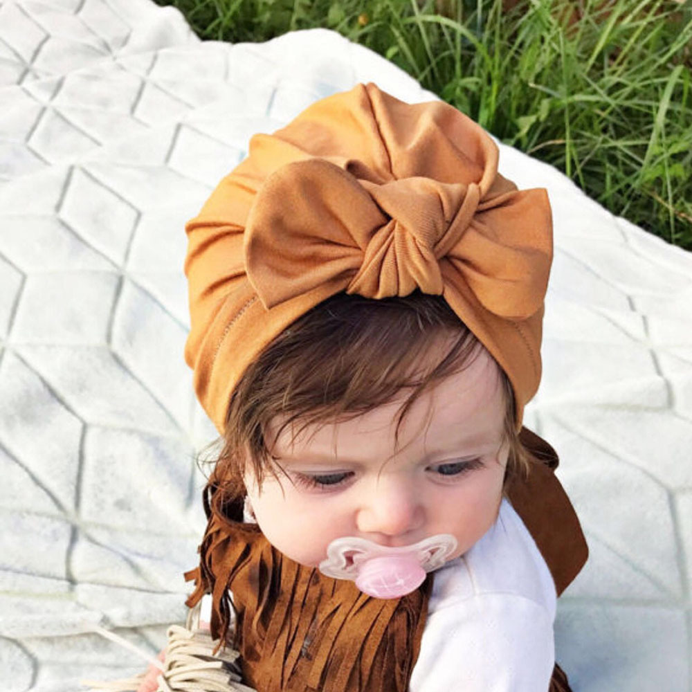 Baby Accessories Hair Bebes   Headwears   Baby Turban Hat Children Newborn Beanie Kids Baby Little Girl Baby Headwrap Girl Tiara