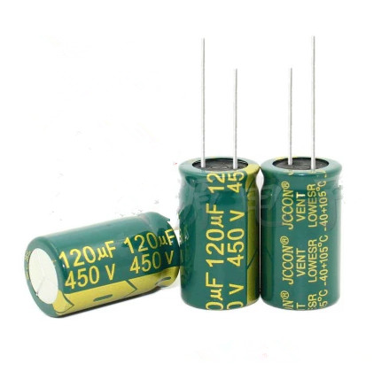 New Original High Frequency and Low Resistance 450V 120UF 120UF 450V Electrolytic Capacitor volume 18*30 best quality image
