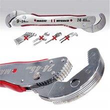 9 45mm regulowany magiczny klucz wielofunkcyjny cel klucz narzędzia klucz uniwersalny rury domu narzędzia ręczne szybkie Snap Grip narzędzia