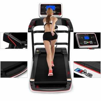 Pantalla de Color HD cinta de correr eléctrica WIFI multifuncional equipo de ejercicio correr entrenamiento deportes de interior para caminadoras de casa