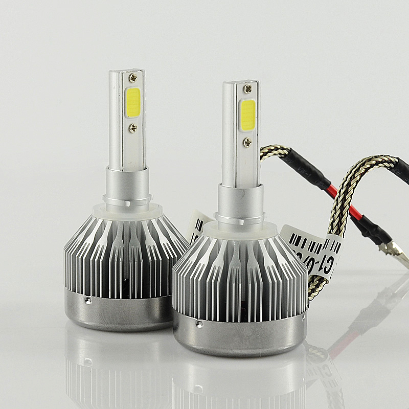 Free shipping 2 pcs New H27 60W 6000LM All-in-one Led Car Headlight 880 881 Replace Xenon Headlight Car Front Fog Light Source 2015 milan 5000lm fanless 5000lm 6000lm 40w fish tail 6000k 881 led for all car freeshipping mmm