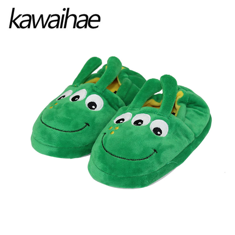 Cute Animal Cartoon Kids Slippers Home Shoes Children For Boys Girls Indoor Bedroom Baby Warm Winter Cotton Plush Slipper 2016