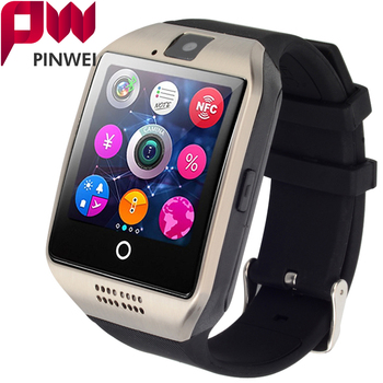 PINWEI 2017 Bluetooth Smart Watch Q18 Plus Smartwatch Support SIM Card GSM Video Camera Support Android/IOS Smart Phone PK GT08  new garmin watch 2019