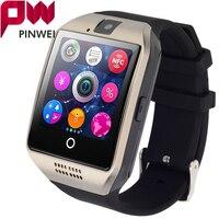 Pinwei 2017 smartwatch bluetooth smart watch q18 oraz wsparcie karty sim gsm kamery wideo wsparcie android/ios smart phone pk gt08