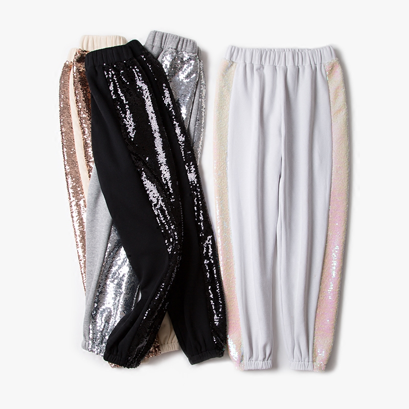 Winter New Sequined Fashion Casual Loose Loose Trousers Temperament Fashion Pants