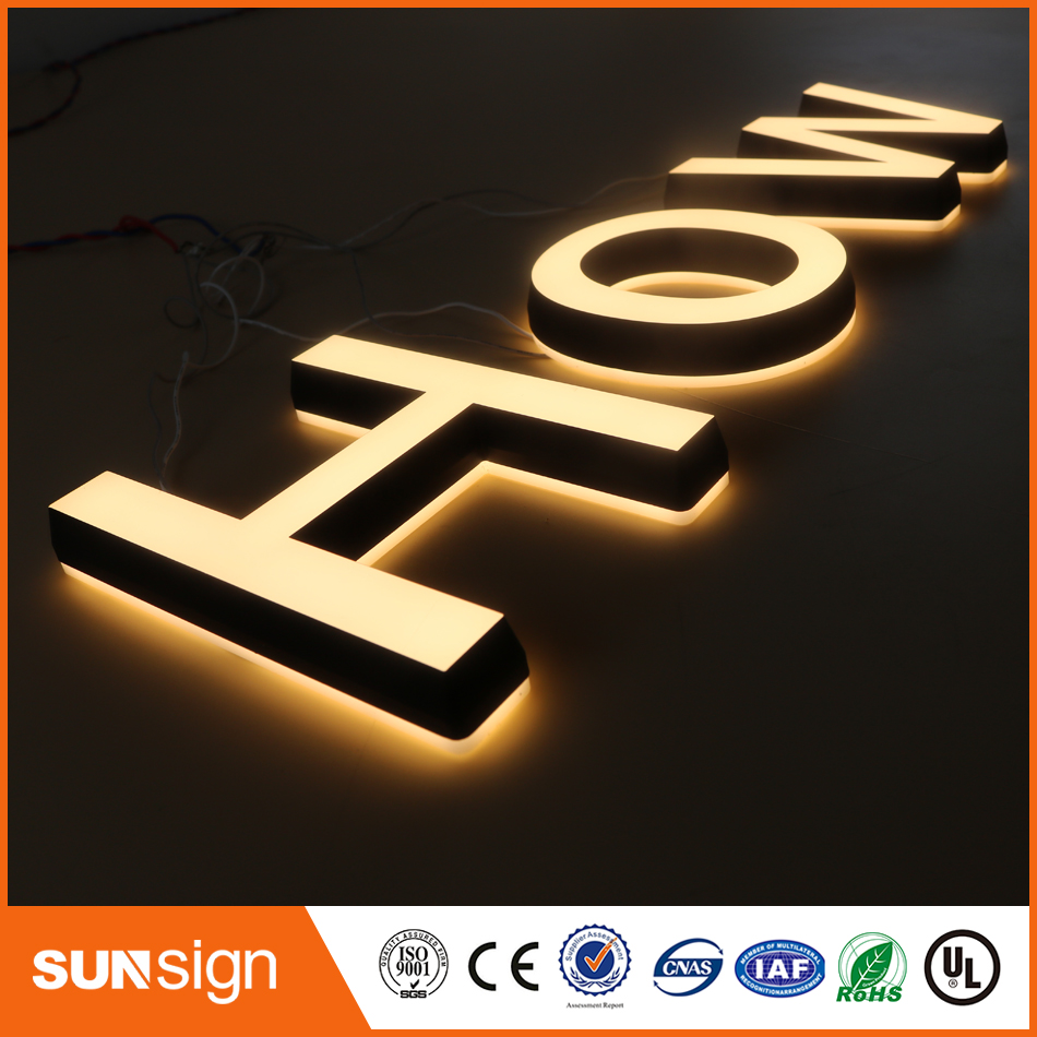 Double Sides Lighted Acrylic Mini Led Letters Sign Ultra Lights For Acrylic Signs Letters For Advertising Shop Mall