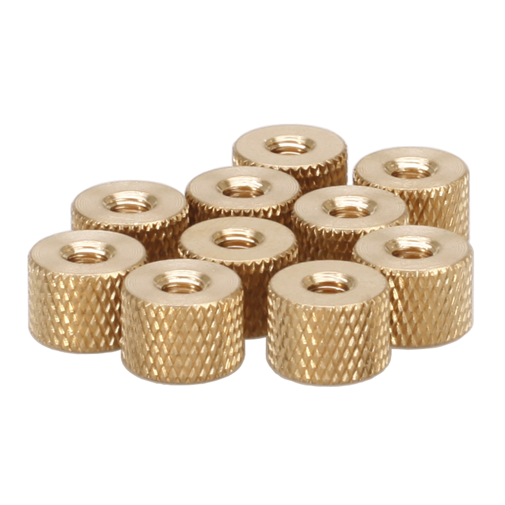 10 pcs M2 2.5 3 4 Brass Thumb Nut,Brass Knurled Nut,Pack rmg a501 brass sounding buzzer sheets yellow 10 pcs