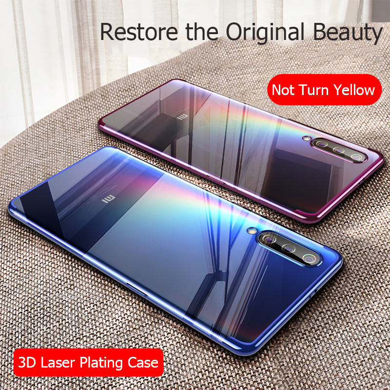 MUCHI For <font><b>Xiaomi</b></font> <font><b>Mi</b></font> <font><b>A3</b></font> Case Luxury Laser Plating Soft Clear Back <font><b>Cover</b></font> For <font><b>Xiaomi</b></font> Xiomi <font><b>Mi</b></font> <font><b>A3</b></font> A 3 MiA3 Phone Cases image
