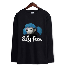 New Sally Face T-shirt men women Cotton All-match Hip Hop long sleeve Fashion Hip-hop