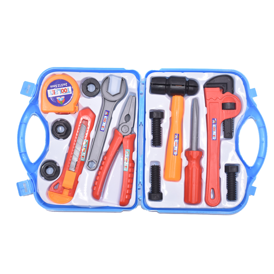 Children play house toy kit toolbox combination of plastic simulation repair tools to spread the toy gift Random Color the children toy of plastic moulds