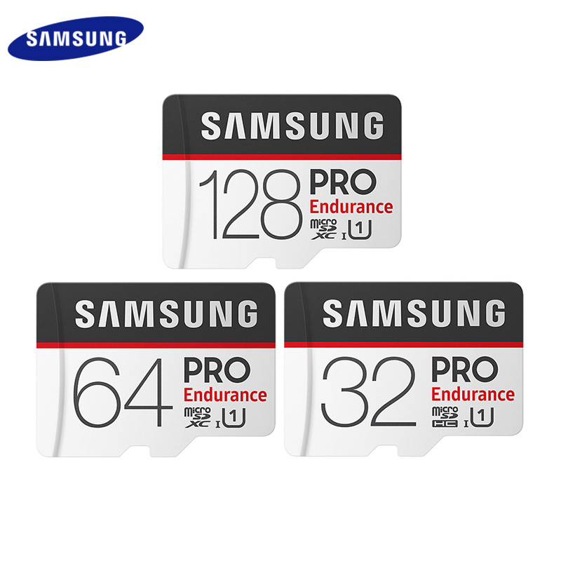 New SAMSUNG Memory Card Micro SD Card PRO Endurance 100MBs 128GB 64GB 32GB SDXC SDHC Class 10 TF Card C10 UHS-I Trans Flash Card