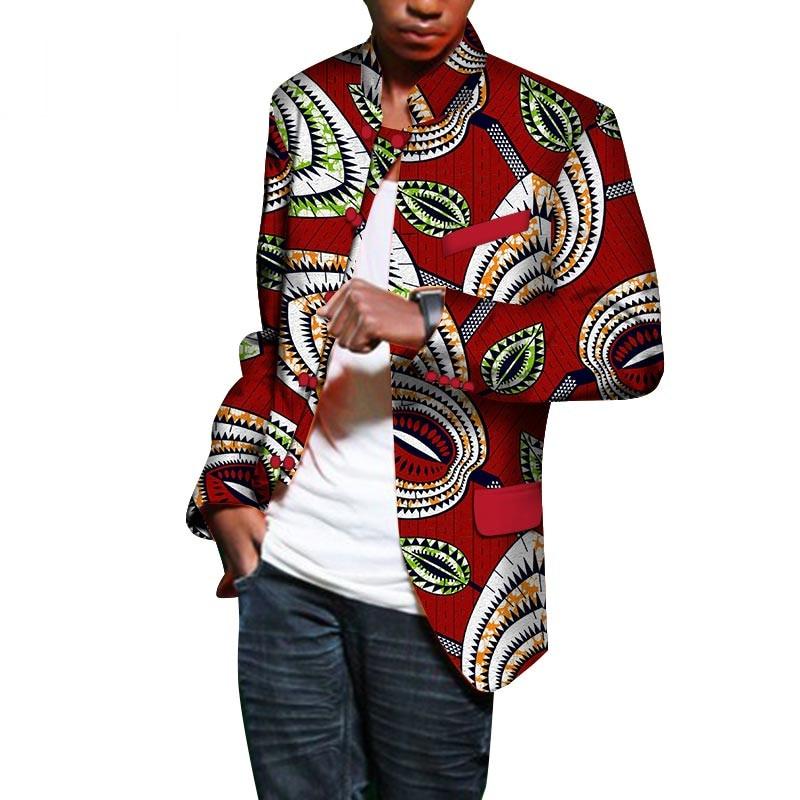 Fancy Blazer Causal Men Fashion Jacket For Men Long Sleeve Top Dashiki African Print Blazer Men Outfits Single Breasted WY476