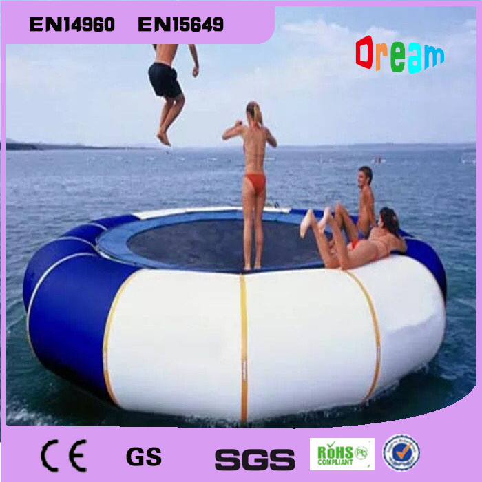 Free Shipping Dia 2m Inflatable Water Trampoline Inflatable Trampoline Water Jumping Bed Jumping Trampoline Come Free a Pump купить недорого в Москве