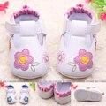 Moda de nueva otoño invierno primavera verano zapatos de bebé Girls flower resbalón prueba niños lindos de la muchacha del niño de 0 - 18 M zapatos