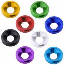 8pcs M3 Aluminum Washer Nut Alloy Flat Cone Cup Head Screw Gasket For 1/10 RC Car FPV Drone Quadcopter Parts
