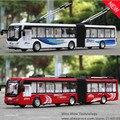 1:48 envío libre Beijing bus de Aleación Modelo de Coche Diecast Tire atrás Del Coche de Juguete modelo de Coche Electrónica con luz y sonido Juguetes de Los Niños regalo