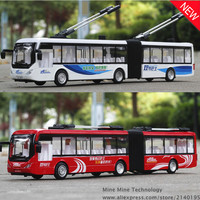 1 48 Free Shipping Beijing Bus Alloy Diecast Car Model Pull Back Toy Car Model Electronic