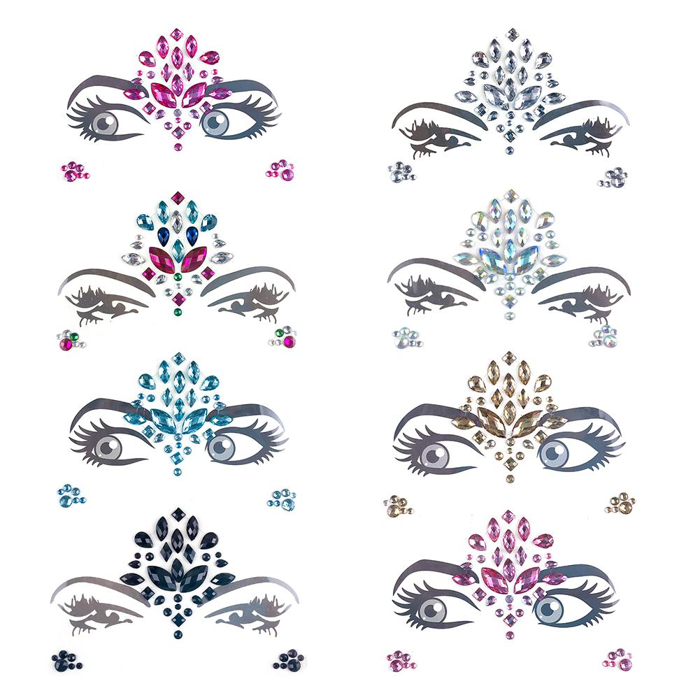 Detail Feedback Questions about Music Festival Face Stickers in Temporary  Tattoos Crystals Eco Friendly Holiday Party Dance Eyebrows Face Adhesive  for Women ... 601f451ba0b4