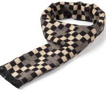Winter font b Tartan b font Scarf Men Casual Cashmere Scarf Luxury Brand Rhombus Patchwork Chic