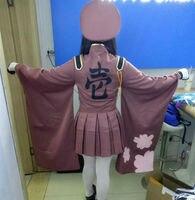 2017 Yeni Kız Binlerce Kiraz Senbonzakura Vocaloid Hatsune Miku Kostüm Cosplay Ordu Üniforma Belle Cosplay