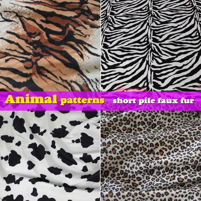 Image of: Stencil Animal Patterns Tiger Print Zebra Print Cow Print Leopard Print Short Pile Faux Fur Fabric Sold By The Yard Free Shipping Aliexpresscom Animal Patterns Tiger Print Zebra Print Cow Print Leopard Print