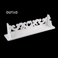OUTAD Newly M Model White Wooden Carved Wall Shelf Display Hanging Rack Storage Rack Home Decor