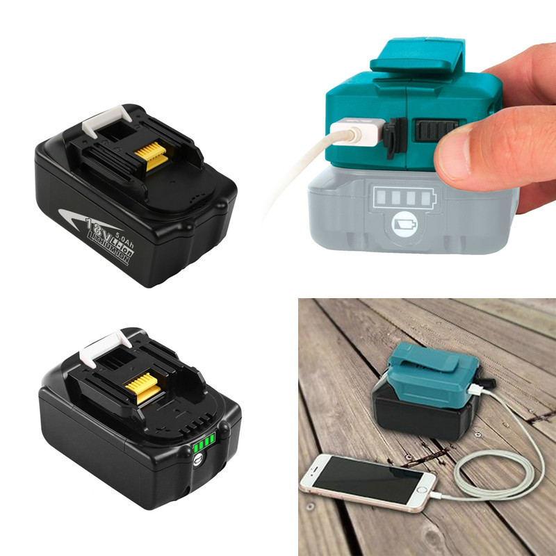 Best Quality Charger for 14.4V 18V Makita Li-ion Battery Adapter Converter with 2USB Power Tool Battery Charger