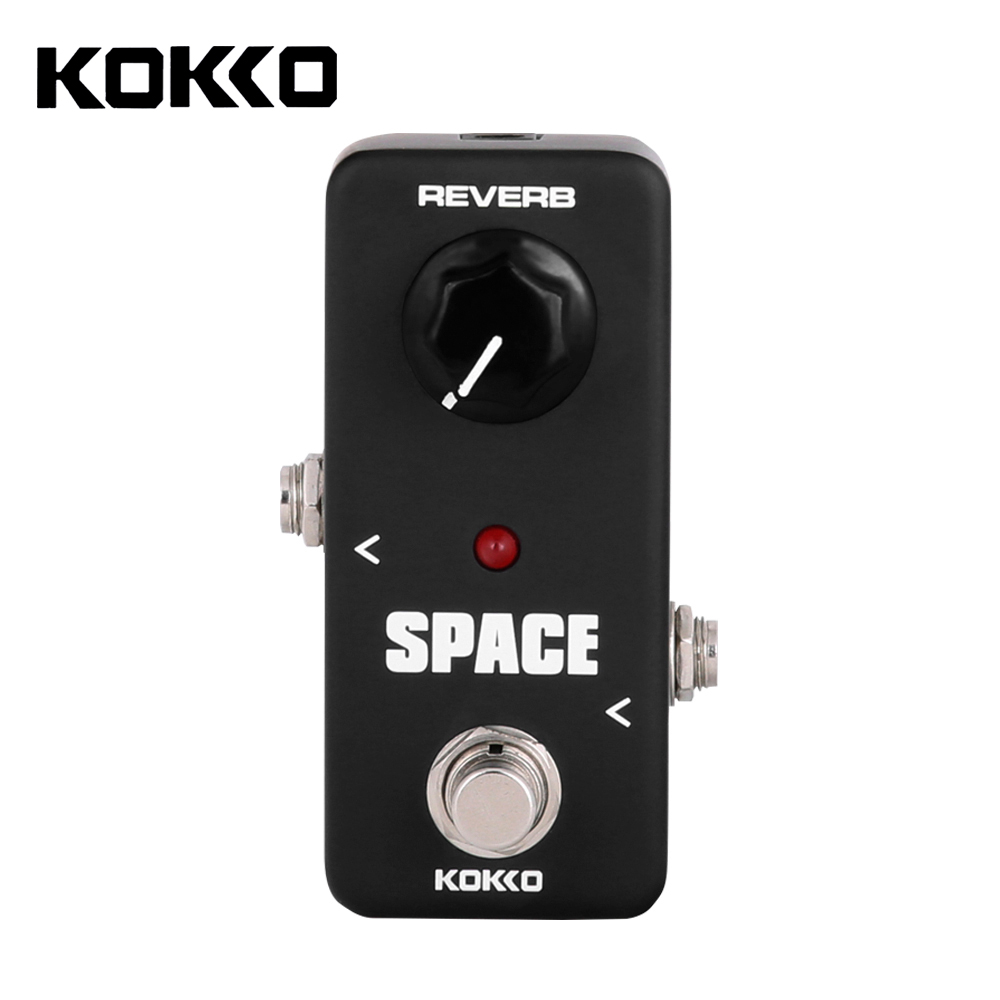 KOKKO FRB2 Portable Mini Space Pedal Full Reverb Effect Pedal Electric Guitar Effect Pedal kokko frb2 mini space pedal portable guitar effect external ac adapter delivering 9v dc regulated guitar parts
