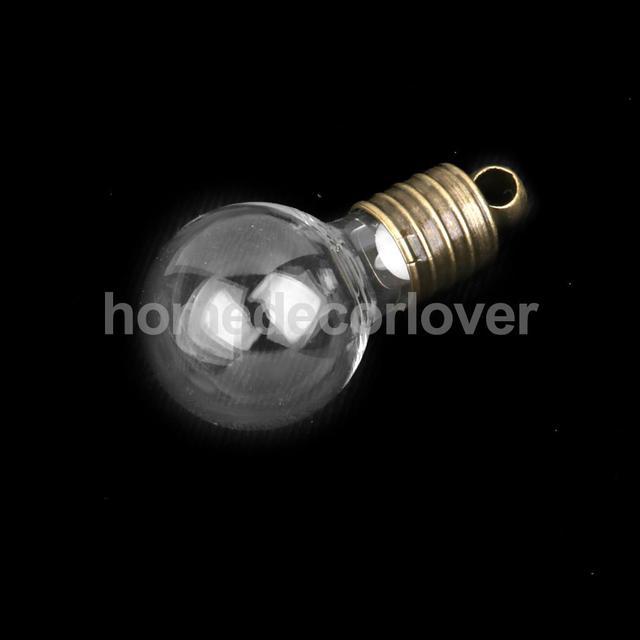 10 Стеклянная Колба Флаконы Пустые Желая Бутылки Подвески Ожерелье DIY Ремесла