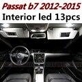 13 unids X envío libre Paquete Free Error Kit de LED Luz Interior para vw Passat b7 2012-2015
