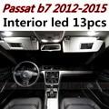 13pcs X free shipping Error Free LED Interior Light Kit Package for vw Passat b7 accessories 2012-2015