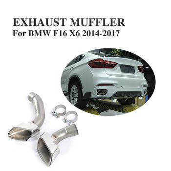 Stainless steel Car Exhaust Tips Muffler End Pipes For BMW F16 X6 2014-2017 image
