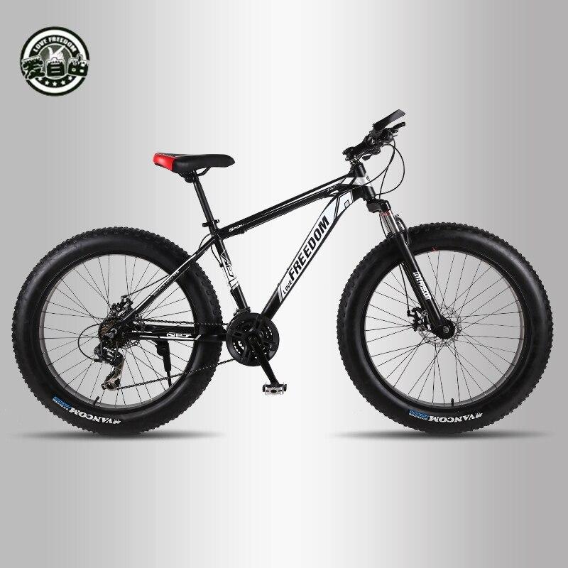 Aiment La Liberté 7/24/27 vitesse top qualité vtt 26 pouces Vélos En Aluminium À Double disque freins Graisse vélo de Neige vélo