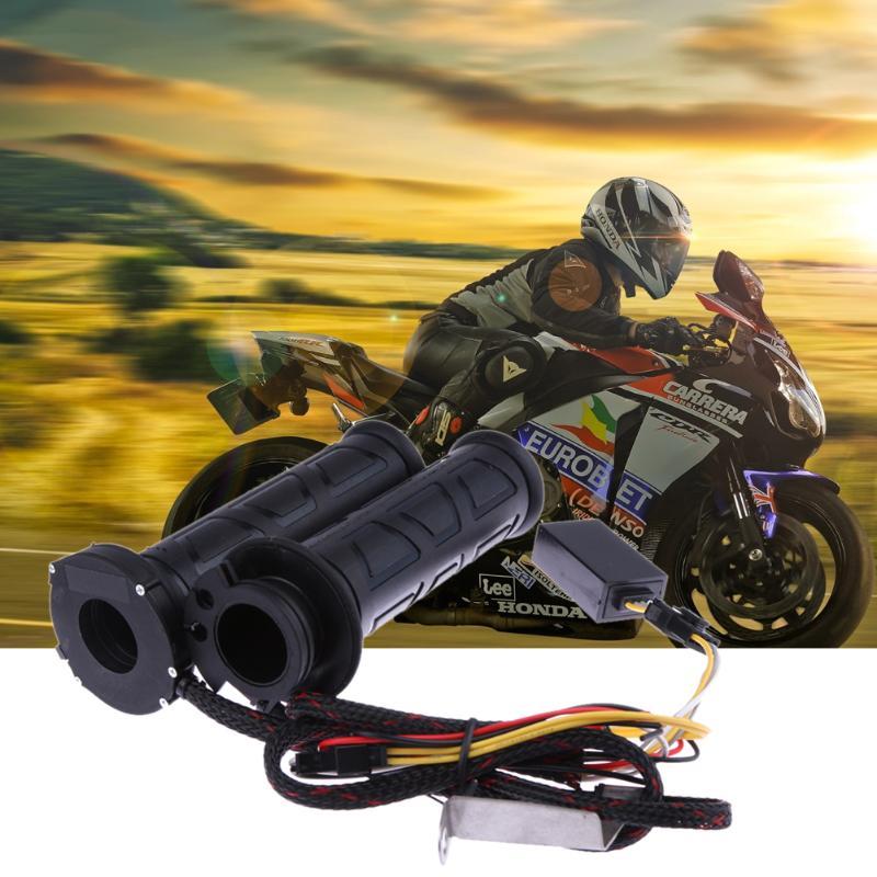 Motorrad Griff Griffe Beheizten Geändert Elektrische Thermostat gas Lenker Grip für KTM Honda Yamaha Suzuki Moto Grip Schwarz