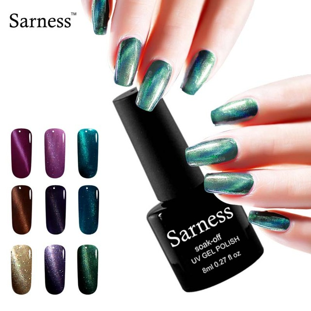 Sarness Mag Cat Eye Gel Nails Colors Professional Uv Polish Top Coat High Quality Glue