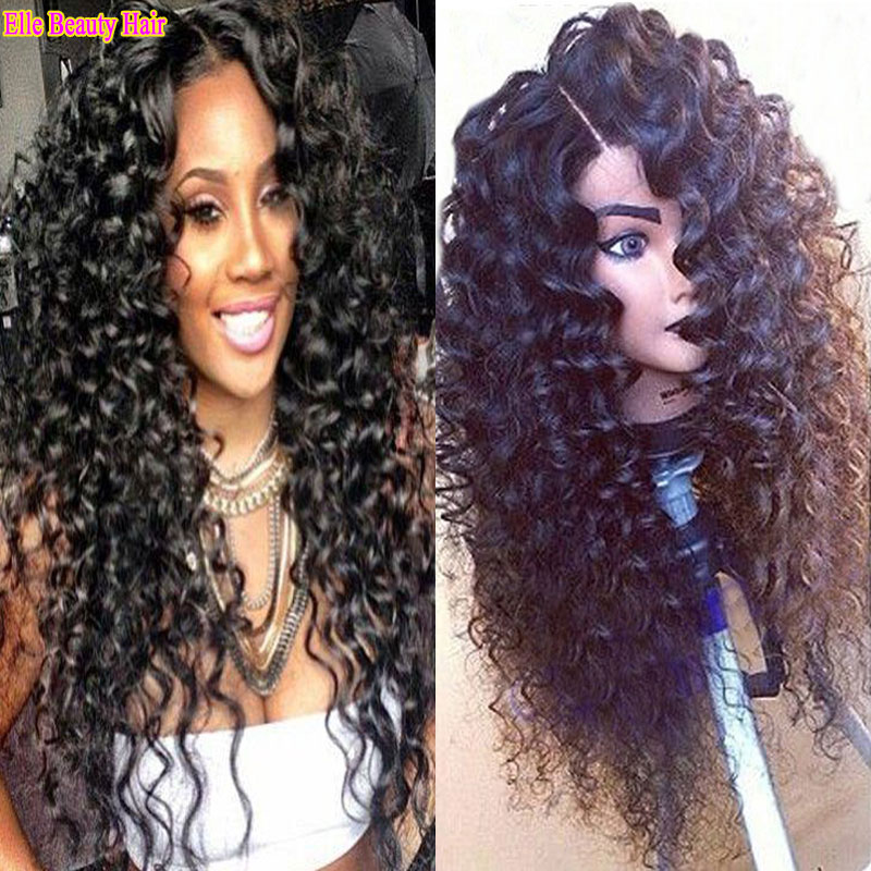 7a virgin Brazilian curly lace front wigs 100% lace font human hair curly  wigs for black women human lace wigs with baby hair 453c6d75a244