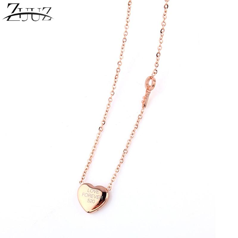 ZUUZ Accessories Best Friends Pendant Stainless Steel Chain Love Choker Long Heart Key Necklace Women Chocker Neckless