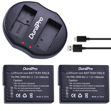 DuraPro 2pcs 1400mAh DMW-BLC12 DMW-BLC12E BLC12 Camera Battery + USB Dual Charger for Panasonic FZ1000,FZ200,FZ300,G5,G6,G7,GH2