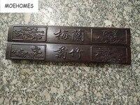 中国絵画書道補助製品木材刻まれたかもしれ蘭竹菊紙重量木製工芸