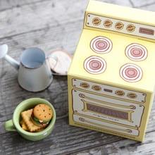 ¡Nuevo! bonito molde para pastel de 30 Uds Vintage con horno impreso para regalo de cupcake, caja de embalaje creativa para fiesta, caja de regalo pequeña para galletas