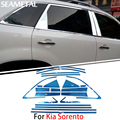 For Kia Sorento 2009 2010 2011 2012 2013 2014 Chrome Covers Chromium Styling Car Full Window Trim Decoration Auto Accessories