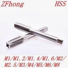 M1 M1.2 M1.4 M1.6 M1.7 M2 M2.5 M3 M4 M5 M6 M8 высокое качество HSS правая рука резьбы крана метрический резьбонарезной станок штепсельной вилки