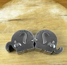 Directo de fábrica de Recuerdos Del Bebé Primer Diente y Primera Caja de Regalo Esencial Forma de Elefante Bebé Dientes Pelo Rizo Colecciones Cajas