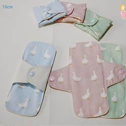 2 Pcs/lot new 160mm Sanitary Pad Soft Reusable Washable Panty Liner Cloth Mama