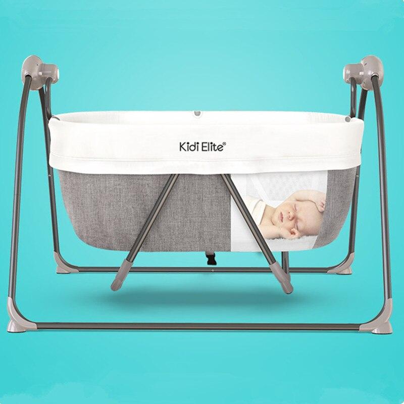 Haute qualité pliable enfant en bas âge lit bébé berceau moustiquaire électrique bébé à bascule bébé panier de couchage avec Bluetooth bébé berceau